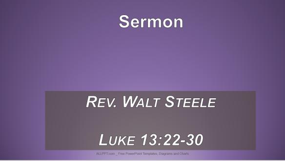 8.25.19 Sermon